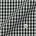 メンズパターンオーダーシャツ 純綿 形態安定 ブラックギンガムチェック 【S71SKFU32】