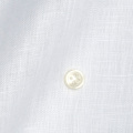 メンズパターンオーダーシャツ 麻100% 涼感素材 ホワイト無地 【S71SKFW09】