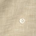 メンズパターンオーダーシャツ 麻100% 涼感素材 ベージュ無地 【S71SKFW10】