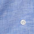 メンズパターンオーダーシャツ 麻100% 涼感素材 ブルー無地 【S71SKFW13】