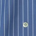 メンズパターンオーダーシャツ 100双 ネイビーブルー×ホワイトペンシルストライプ 【S71SKFX03】