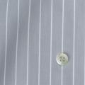 メンズパターンオーダーシャツ 100双 ライトグレー×ホワイトペンシルストライプ 【S71SKFX06】