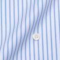 メンズパターンオーダーシャツ 80双純綿 ツイル白地薄青ストライプ 【S71SKFY34】