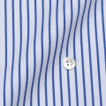 メンズパターンオーダーシャツ 80双純綿 ツイル白地紺ストライプ 【S71SKFY35】