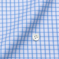 メンズパターンオーダーシャツ 80双純綿 ツイル白地薄青チェック 【S71SKFY40】