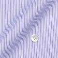 メンズパターンオーダーシャツ 100番手双糸 パープルペンシルストライプ 【S71SKFY50】
