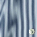 メンズパターンオーダーシャツ 平織りデニムブルーロンドンストライプ 【S71SKFY72】