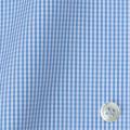 メンズパターンオーダーシャツ 平織りライトブルーミニギンガムチェック 【S71SKFY78】