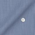 メンズパターンオーダーシャツ 平織りデニムブルーミニギンガムチェック 【S71SKFY79】