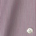 メンズパターンオーダーシャツ 平織りエンジロンドンストライプ 【S71SKFY88】