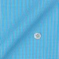 メンズパターンオーダーシャツ 平織りターコイズミニギンガムチェック 【S71SKFY91】