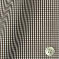 メンズパターンオーダーシャツ 平織りブラウンミニギンガムチェック 【S71SKFY93】