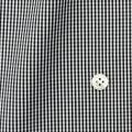 メンズパターンオーダーシャツ 平織りブラックミニギンガムチェック 【S71SKFY96】