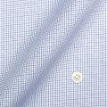 メンズパターンオーダーシャツ 純綿 形態安定 ネイビー系タッタソールチェック 【S71SKFZ68】