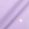 メンズパターンオーダーシャツ 純綿 形態安定 ピンクミニギンガムチェック 【S71SKFZ72】