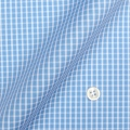 メンズパターンオーダーシャツ 純綿 形態安定 ライトブルー×ホワイトグラフチェック 【S71SKFZ78】