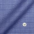 メンズパターンオーダーシャツ 純綿 形態安定 ブルーグレンチェック 【S71SKFZ88】