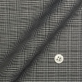 メンズパターンオーダーシャツ 純綿 形態安定 ブラックグレンチェック 【S71SKFZ96】