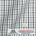 レディースパターンオーダーシャツ(ベーシック) イタリア製 THOMASMASON グレータッタソール 【S72EXM414】
