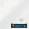 レディースパターンオーダーシャツ(ベーシック) MORARJEE ホワイトドビーストライプ 【S72EXMB01】