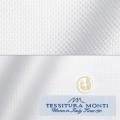 レディースパターンオーダーシャツ(ベーシック) イタリア製 MONTI ホワイトドビー柄 【S72EXMM00】