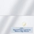 レディースパターンオーダーシャツ(ベーシック) イタリア製 MONTI ホワイトヘリンボーン 【S72EXMM04】