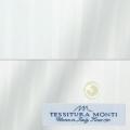 レディースパターンオーダーシャツ(ベーシック) イタリア製 MONTI ホワイトドビーストライプ 【S72EXMM07】