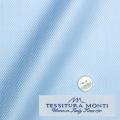 レディースパターンオーダーシャツ(ベーシック) イタリア製 MONTI ライトブルーヘリンボーン 【S72EXMM13】