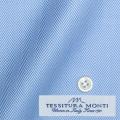 レディースパターンオーダーシャツ(ベーシック) イタリア製 MONTI ブルーヘリンボーン 【S72EXMM14】