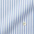 レディースパターンオーダーシャツ(ベーシック) ALBINI ブルー×ホワイトストライプ 【S72EXMW03】