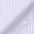 レディースパターンオーダーシャツ(ベーシック) 形態安定 ラベンダーストライプ 【S72SK50E7】