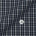 レディースパターンオーダーシャツ(ベーシック) 純綿 ブラックチェック 【S72SKBE80】