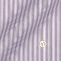 レディースパターンオーダーシャツ(ベーシック) 純綿 パープルストライプ 【S72SKBH49】