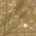 レディースパターンオーダーシャツ(ベーシック) ペイズリープリント ベージュ 純綿 【S72SKBI17】