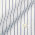 レディースパターンオーダーシャツ(ベーシック) 形態安定 パープルストライプ 【S72SKBJ01】