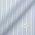 レディースパターンオーダーシャツ(ベーシック) 形態安定 ブルー系ストライプ 【S72SKBJ10】