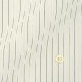 レディースパターンオーダーシャツ(ベーシック) 形態安定 ホワイト×イエロー×グレーストライプ 【S72SKBJ30】