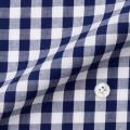 レディースパターンオーダーシャツ(ベーシック) 綿100% ブルーギンガムチェック 【S72SKF013】