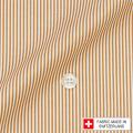 レディースパターンオーダーシャツ(ベーシック) スイスコットン 100番手双糸オレンジ 【S72SKF043】