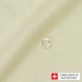 レディースパターンオーダーシャツ(ベーシック) スイスコットン 麻混紡 イエロー 【S72SKF072】