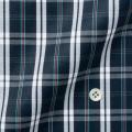 レディースパターンオーダーシャツ(ベーシック) ネイビー地マルチチェック柄ツイル ネル加工 【S72SKFD98】