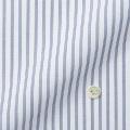 レディースパターンオーダーシャツ(ベーシック) ホワイト×ネイビードビーストライプ 【S72SKFDC1】