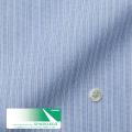 レディースパターンオーダーシャツ(ベーシック) スパーノ.ECO ブルー濃淡×ホワイトストライプ 【S72SKFEK2】