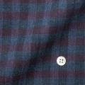 レディースパターンオーダーシャツ(ベーシック) 純綿 ネイビー濃淡×パープルチェック起毛 【S72SKFEL6】