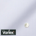 レディースパターンオーダーシャツ(ベーシック) Variex ホワイト×パープル濃淡ストライプ 【S72SKFEM4】