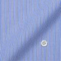 レディースパターンオーダーシャツ(ベーシック) ブルー系キャンディストライプ(1mmピッチ) 【S72SKFEW1】