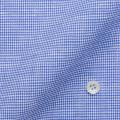 レディースパターンオーダーシャツ(ベーシック) 涼感素材・吸水速乾 ブルー×ホワイトドビー柄  【S72SKFF57】