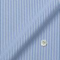 レディースパターンオーダーシャツ(ベーシック) トリコットニット ホワイト×ブルーストライプ 【S72SKFF90】