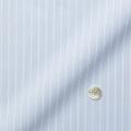 レディースパターンオーダーシャツ(ベーシック) トリコットニット ライトブルー×ホワイトストライプ 【S72SKFF92】