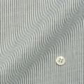 レディースパターンオーダーシャツ(ベーシック) 純綿 形態安定・80番双糸使用 白場ブラックストライプ 【S72SKFU19】